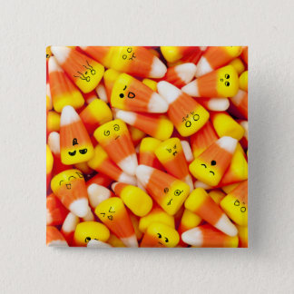 Bóton Quadrado 5.08cm Milho de doces com o botão bonito das caras