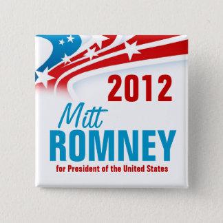 Bóton Quadrado 5.08cm Mitt Romney
