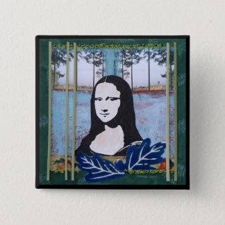 Bóton Quadrado 5.08cm Mona Lisa no país