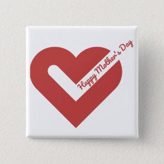 Bóton Quadrado 5.08cm Mother's Day Square Button