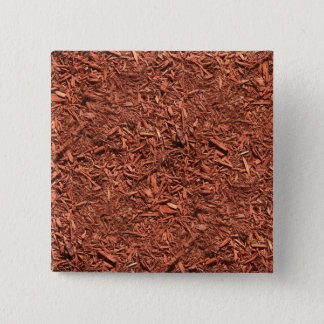 Bóton Quadrado 5.08cm mulch detalhado do cedro vermelho para o