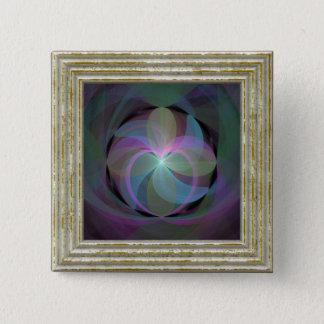 Bóton Quadrado 5.08cm Multi fã colorido do Fractal