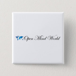 Bóton Quadrado 5.08cm Mundo da mente aberta botão do quadrado de 2