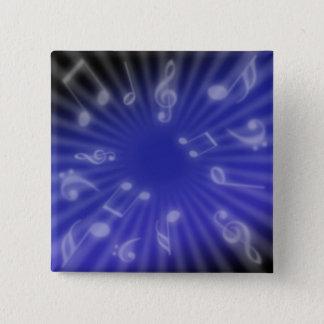 Bóton Quadrado 5.08cm Música azul