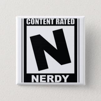 Bóton Quadrado 5.08cm N é para Nerdy