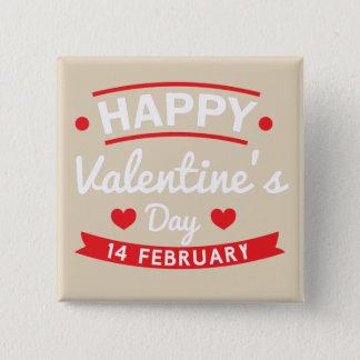 Bóton Quadrado 5.08cm Namorados felizes o 14 de fevereiro