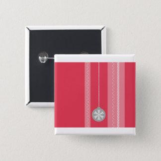 Bóton Quadrado 5.08cm Natal vermelho