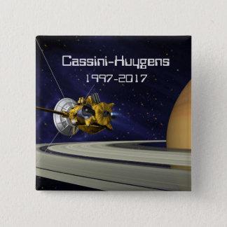 Bóton Quadrado 5.08cm Nave espacial da missão de Cassini Huygens Saturn