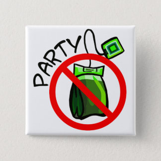 Bóton Quadrado 5.08cm Nenhum anti tea party do tea party