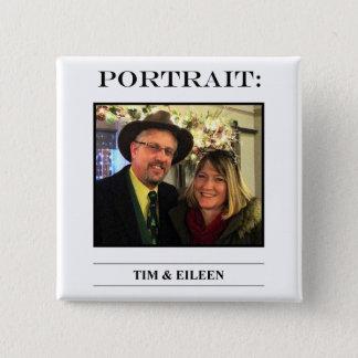Bóton Quadrado 5.08cm No. 4 do botão do retrato