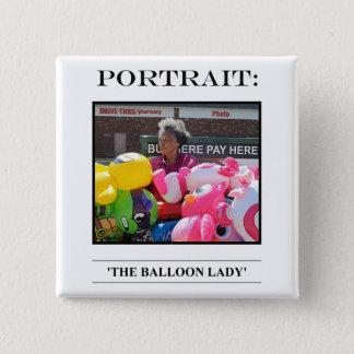 Bóton Quadrado 5.08cm No. 8 do botão do retrato