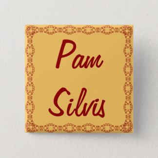 Bóton Quadrado 5.08cm Nome de etiqueta/botão personalizados/Pin