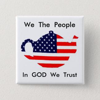 Bóton Quadrado 5.08cm Nós as pessoas no deus nós confiamos o botão