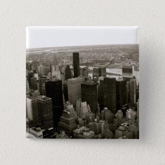 Bóton Quadrado 5.08cm Nova Iorque do Empire State Building