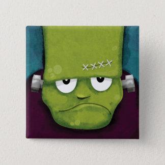 Bóton Quadrado 5.08cm Novidade mal-humorada de Frankenstein | o Dia das