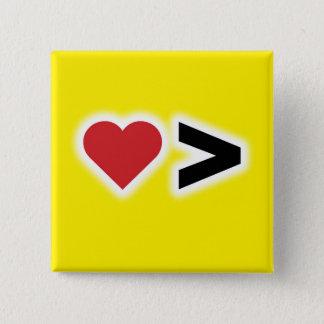 Bóton Quadrado 5.08cm O amor é maior