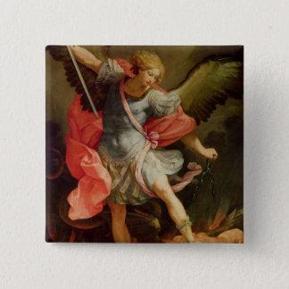 Bóton Quadrado 5.08cm O arcanjo Michael que derrota a satã