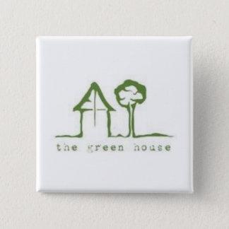 Bóton Quadrado 5.08cm O botão da casa verde