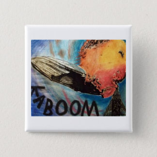 Bóton Quadrado 5.08cm O botão de Hindenburg