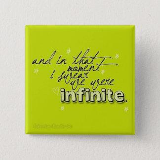 """Bóton Quadrado 5.08cm O botão """"infinito"""" das vantagens"""