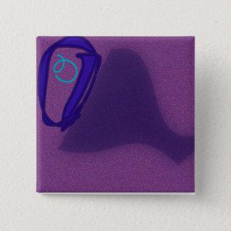 Bóton Quadrado 5.08cm O botão quadrado da letra O