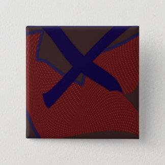 Bóton Quadrado 5.08cm O botão quadrado da letra X