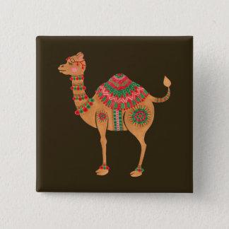 Bóton Quadrado 5.08cm O camelo étnico