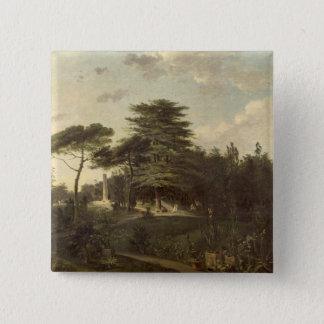 Bóton Quadrado 5.08cm O cedro de Líbano no Jardin des Plantes