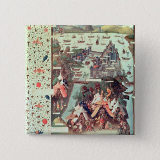 Bóton Quadrado 5.08cm O cerco de Constantinople