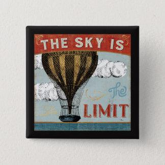 Bóton Quadrado 5.08cm O céu do balão de ar quente é as citações do