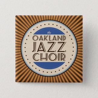 Bóton Quadrado 5.08cm O coro do jazz de Oakland esquadra o botão