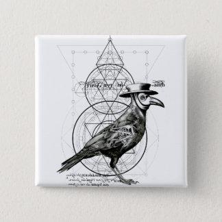 Bóton Quadrado 5.08cm O corvo