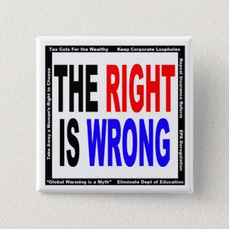 Bóton Quadrado 5.08cm O direito é errado