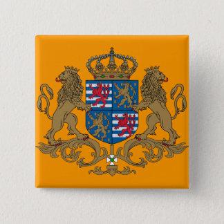 Bóton Quadrado 5.08cm O duque grande de Luxembourg, Luxembourg