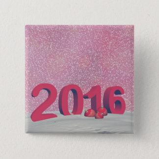 Bóton Quadrado 5.08cm O feliz ano novo 2016