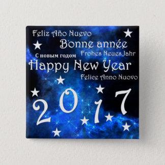 Bóton Quadrado 5.08cm O feliz ano novo 2017