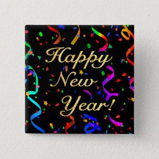 """Bóton Quadrado 5.08cm O """"feliz ano novo! """"botão quadrado"""