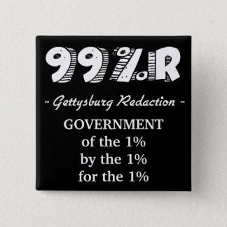 Bóton Quadrado 5.08cm O governo do endereço de Gettysburg de 1% para 1%