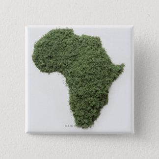 Bóton Quadrado 5.08cm O mapa de África fez da grama