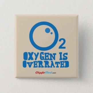 Bóton Quadrado 5.08cm O oxigênio é avaliado em excesso