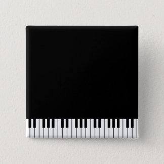 Bóton Quadrado 5.08cm O piano fecha o botão