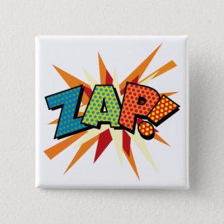 Bóton Quadrado 5.08cm O pop art da banda desenhada ZAP!