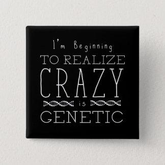 Bóton Quadrado 5.08cm O preto órfão | louco é genético