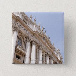 Bóton Quadrado 5.08cm O quadrado de St Peter, Cidade do Vaticano, Roma,