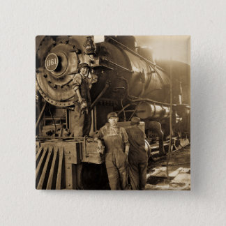 Bóton Quadrado 5.08cm O Roundhouse Rosies do vintage da Primeira Guerra