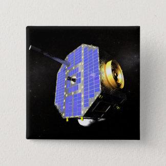 Bóton Quadrado 5.08cm O satélite interestelar do explorador do limite