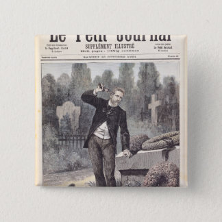Bóton Quadrado 5.08cm O suicídio do general Georges Ernest