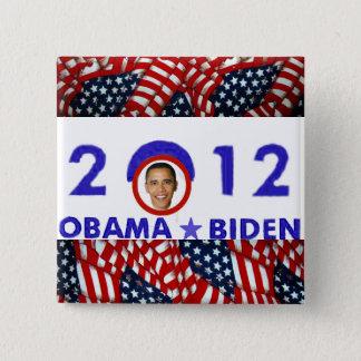 Bóton Quadrado 5.08cm Obama 2012_
