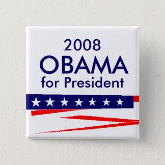 Bóton Quadrado 5.08cm Obama para o presidente, 2008