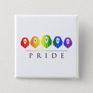 Bóton Quadrado 5.08cm Orgulho gay dos leões - LGBT